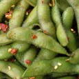 Edamame is combined with a spicy sauce. Serve as an appetizer, or as an accompaniment to your favorite beverage.